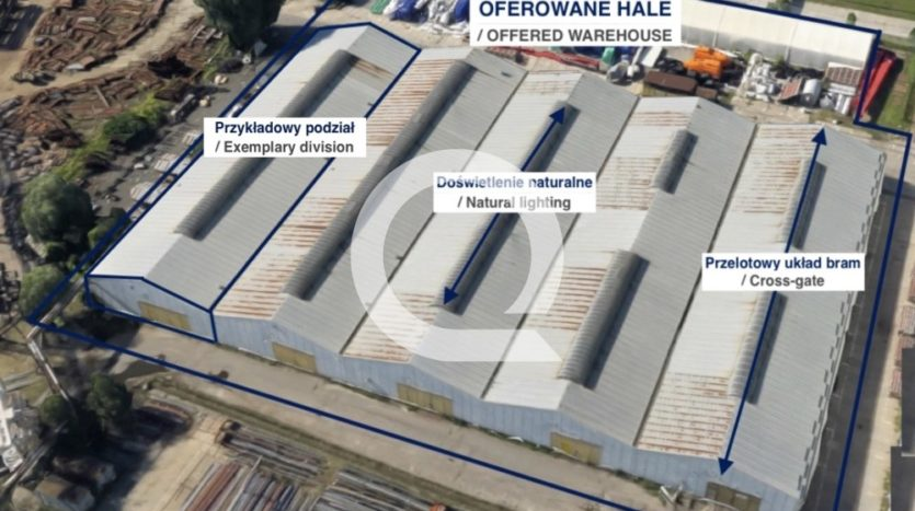 Hala na sprzedaż 10 017 m2 - Gdańsk, Twarda
